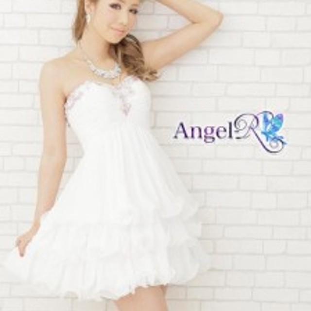 d78ccb5130c88 送料無料 ドレス キャバ  Angel R フリルシフォンカラービーズハイウエストミニドレス