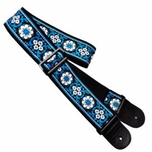 Planet Waves 50J00 Woven Guitar Strap Blue Jaquard Design