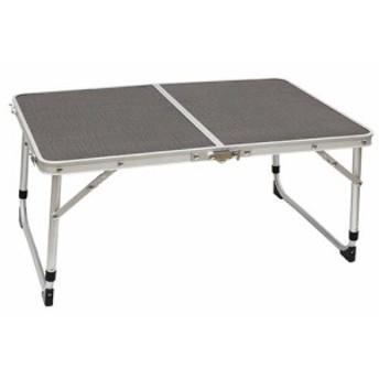 クイックキャンプ (QUICKCAMP) アウトドア 折りたたみ ミニテーブル 60×40cm グレー QC-2FT60 高さ2段階 二つ折り 軽量 折り畳みテーブ