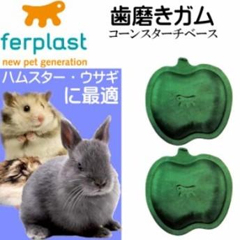送料無料 ウサギ・ハムスター用歯磨きガム真空パック アップル型 Fa308