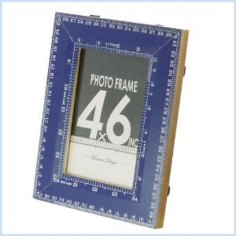 フォトフレーム 木製 アンティーク 写真立て 額縁 メジャー フォトフレーム (S) BLUE