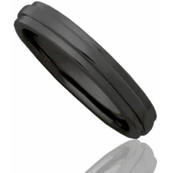刻印無料 ブラックシルバー ペアリング マリッジリング 結婚指輪 メンズ単品|雑誌掲載人気ブランド|プレゼント推奨品|95-2017B