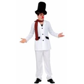 スタイリッシュ雪だるま メンズ サンタ スノーマン 男性用 コスプレ 衣装 コスチューム クリスマス パーティー イベント クリアストーン