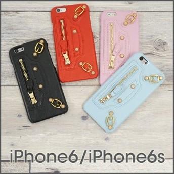 メール便送料無料 スマホケース iPhone6 iPhone6s 「 ジップ 」 アイフォン アイホン スマートフォンケース