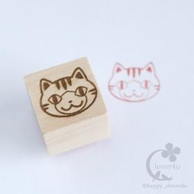 ねこはんこ(とらしろ)・サバトラ白、チャトラ白猫柄スタンプ/Z17