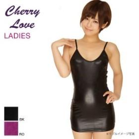 【メール便(15)】(ラポーム)La-Pomme&(シャーリーオブハリウッド)Shirley OF HOLLYWOOD (チェリーラブ)Cherry Love メタリックボディコン