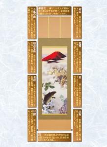開運掛軸 「天龍昇鯉吉祥図」
