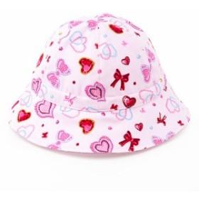 ベビー帽子 ハット ハートとリボンのきらきらビューティー(ピンク)B20003