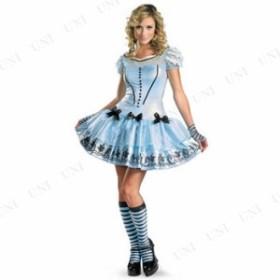 アリスドレス劇場版 大人用 12-14 仮装 衣装 コスプレ ハロウィン 余興 大人 パーティー ドレス ディズニー コスチューム 不思議の国のア