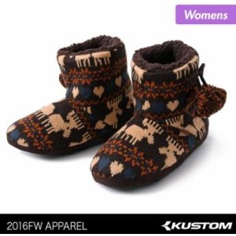 KUSTOM/カスタム レディース ムートンブーツ AE208-402 もこもこ 防寒 くつ 靴 女性用 57%OFF