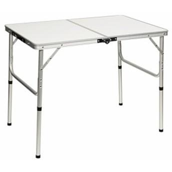 クイックキャンプ (QUICKCAMP) アウトドア 折りたたみテーブル 90×60cm ホワイト AL2FT-90 二つ折り 軽量 折り畳みテーブル ローテーブ