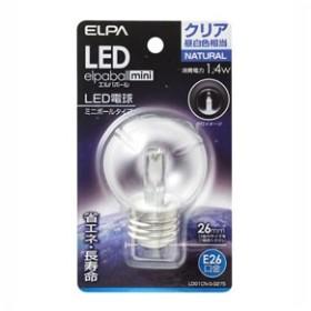 ELPA LDG1CN-G-G275 LED電球 ミニボール電球形 60lm(クリア・昼白色相当)elpaballmini[LDG1CNGG275]【返品種別A】