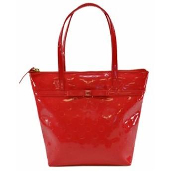 【中古】ケイトスペード ハンドバッグ◆ ◆定番人気 レッド系xゴールドカラー k7309
