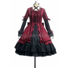 萌えゴシック ロリータ風 Gothic Lolita 風 重桜   コスプレ衣装   オーダメイドも対応可能