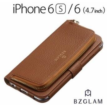 [送料無料]☆ BZGLAM iPhone6s iPhone6 (4.7インチ) 専用 レザーコインカバー ブラウン i6S-BZ15