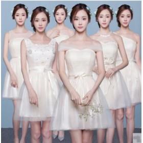 ceea09e2b5b8e 高品質 ショート ドレス二次会 ミニウェディングドレス パーティードレス 花嫁