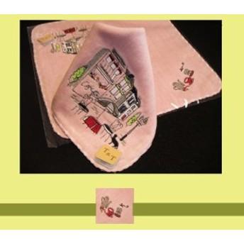 ミニタオル ラインストーン 刺繍の良質タオル A