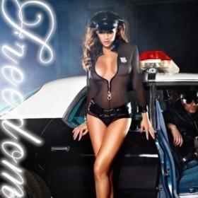 激安セール ハロウィン 警察 セクシーコス エロコス コスプレ衣装♪スケスケデザインのセクシーポリス婦人警官コスチューム♪khcos313
