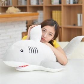 ぬいぐるみ クッション 特大 サメ 超柔らかい鮫 抱き枕 サメ プレゼント ふわふわ 動物ぬいぐるみ クリスマスおもちゃ  40cm