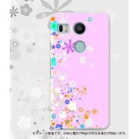 Nexus5X スマホケース docomo ドコモ ネクサス 005689 フラワー ハードケース 携帯ケース スマートフォン カバー
