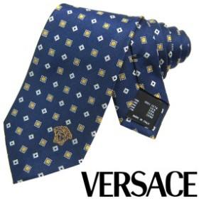VERSACE ヴェルサーチ ネクタイ 新柄 メンズ 紳士 (11) 定価18360円 CR8LSEB0638 0009