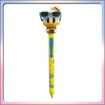 ドナルド ダック マスコット付き ボールペン (サングラス) 芯を出すとサングラスが動くよ。 文房具 ( ディズニーリゾート限定 )