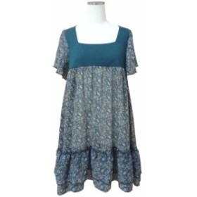 oeillet Floral switching see-through dress「M」ウイエ 花柄切替シースルーワンピース 086155【中古】