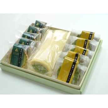 送料無料 抹茶 スイーツセットA(ロールケーキ・バームクーヘン他) のしOK / 誕生日 贈り物 グルメ 食品 ギフト