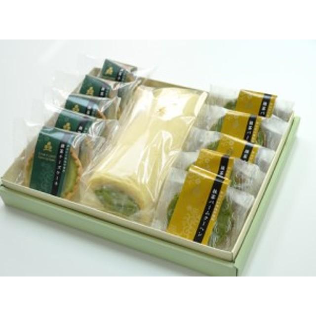 送料無料 抹茶 スイーツセットA(ロールケーキ・バームクーヘン他) のしOK / 誕生日 贈り物 グルメ 食品 ギフト お歳暮 御歳暮