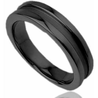 刻印無料 ブラックシルバー シンプル ペアリング マリッジリング 結婚指輪 メンズ単品|雑誌掲載人気ブランド|プレゼント推奨|95-2011B