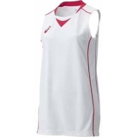 アシックス(asics) W'Sゲームシャツ XB2355 ホワイト×レッド 【バスケットボール レディース トレーニングウェア タンクトップ】