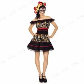 コスプレ 仮装 死者の日パーティドレス L コスプレ 衣装 ハロウィン 仮装 余興 大人 コスチューム 女性 パーティー ドレス 大人用 女性用