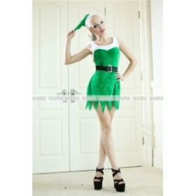 クリスマス 緑ワンピ サンタ衣装 コスプレ 仮装 ドレス コスチューム ワンピ クリスマス ツリー コスプレ 9459