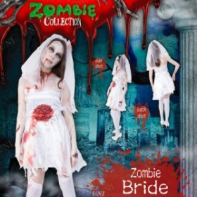 ! ZOMBIE COLLECTION Zombie Bride(ゾンビブライド) 衣装 コスプレ ハロウィン 仮装 大人 コスチューム ゾンビ 大人用 女性用 怖