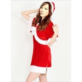 j038ふわふわな肉厚 帽子付きボレロ、ポンチョ クリスマス衣装、サンタコスプレ、子供~大人ok!