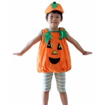 ハロウィン 可愛い かぼちゃ 子供 衣装 キッズ パンプキン