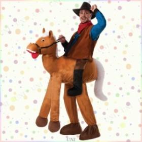 【送料無料】乗馬コスチューム 仮装 衣装 コスプレ ハロウィン 宴会 余興 アニマル 動物 パーティーグッズ おもしろ 着ぐるみ 大人用 女