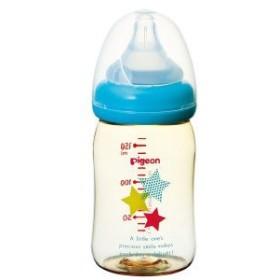 ピジョン 母乳実感哺乳びん プラスチック スター柄 160mL