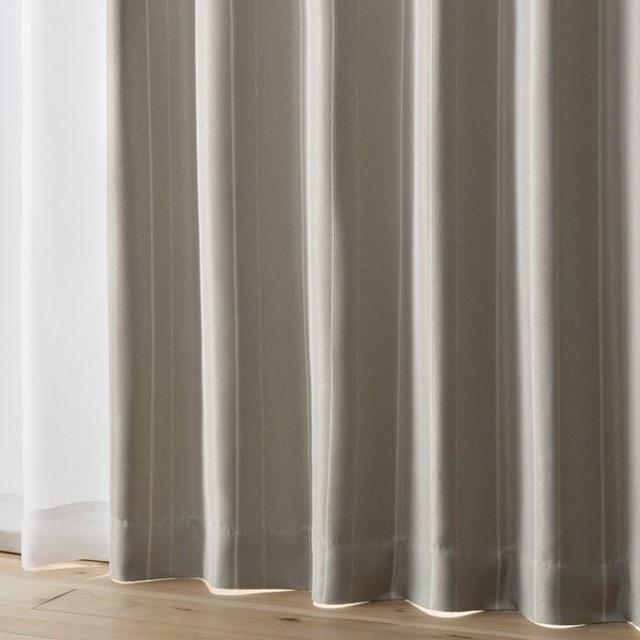 HOME COORDY プリーツ加工 遮光 防炎ドレープカーテン グレ- 100X105cm 1枚入り HC-FPJ ホームコーディ 100X105cm 1枚入り 防炎加工カーテン