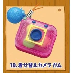 ドラえもん 駄菓子マスコット ストラップ 着せ替えカメラガム