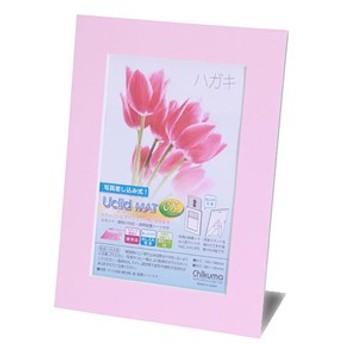 チクマ CHIKUMA 18624-3 ペーパーフォトフレーム ハガキ(ピンク)Uclid MAT EX ユークリッドマット[CHIKUMA186243]【返品種別A】
