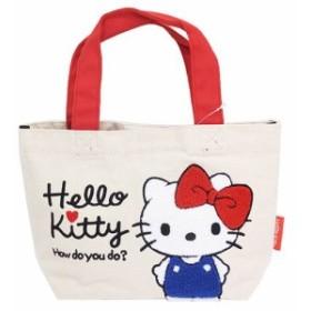 ◆ハローキティ ミニトート/サガラ刺繍【サンリオアニメキャラ】(贈り物プレゼント)