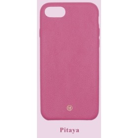 カスタマイズされたマルチカラーレザーラムスキンシリーズマカロンファンタジーカラー24色ピンクiPhoneケース