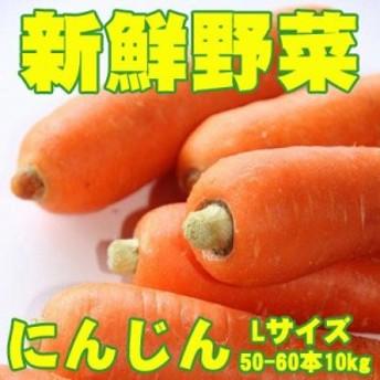 新鮮野菜 バイキング にんじん Lサイズ 50-60本10kg 送料無料 ※沖縄は送料別途加算