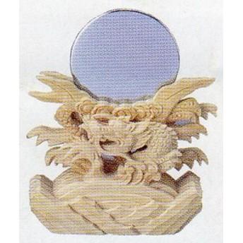 神道専科:祖霊社(神徒壇) 極上 379●神鏡 竜上彫 2寸 税抜¥31000円