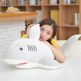 ぬいぐるみ サメ クッション 特大 超柔らかい鮫 抱き枕 サメ プレゼント ふわふわ 動物ぬいぐるみ クリスマスおもちゃ 60cm