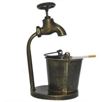 【お取り寄せ】灰皿 水道の蛇口とバケツ 鉄製 アンティーク風