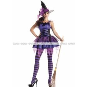 紫 魔女 コスプレ ハロウィン衣装 コスプレ衣装 童話 魔女  コスプレ ハロウィン コスチューム 7807