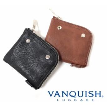 VANQUISH(ヴァンキッシュ)LF小物入れ/小銭入れ/カード入れ(ブラック/ブラウン)