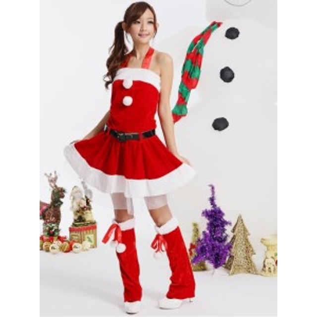 サンタ コス サンタクロース 定番 コスプレ コスチューム ミニスカサンタ クリスマス セクシー sexy サンタ服 衣装 セットアップ 赤A